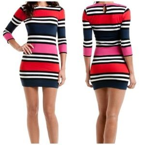 French Connection Stretch Striped Dress